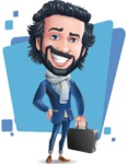 Stylish Man Cartoon Character: Classic Blue Edition 2020 - Shape5