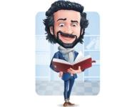 Stylish Man Cartoon Character: Classic Blue Edition 2020 - Shape6