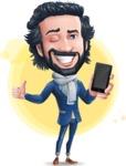 Stylish Man Cartoon Character: Classic Blue Edition 2020 - Shape7
