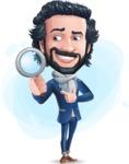 Stylish Man Cartoon Character: Classic Blue Edition 2020 - Shape9