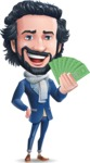 Stylish Man Cartoon Character: Classic Blue Edition 2020 - Show me the Money