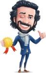 Stylish Man Cartoon Character: Classic Blue Edition 2020 - Winning prize