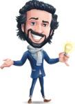 Stylish Man Cartoon Character: Classic Blue Edition 2020 - with an Idea