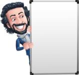 Stylish Man Cartoon Character: Classic Blue Edition 2020 - with Big Presentation board
