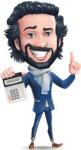 Stylish Man Cartoon Character: Classic Blue Edition 2020 - with Calculator