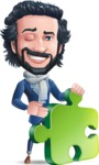 Stylish Man Cartoon Character: Classic Blue Edition 2020 - with Puzzle