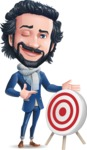 Stylish Man Cartoon Character: Classic Blue Edition 2020 - with Target