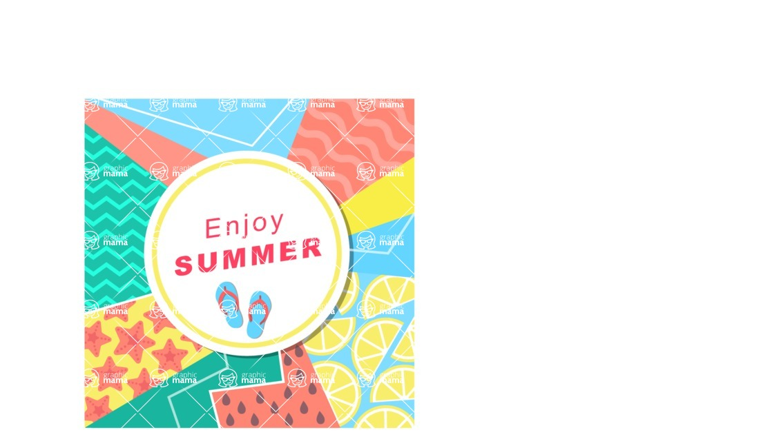 Summer Vector Graphics - Mega Bundle - Vector Abstract Summer Poster Template