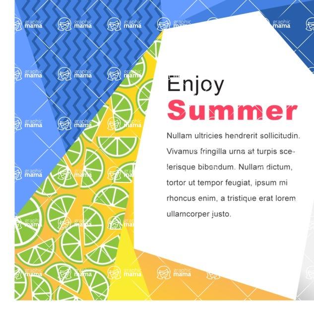 Summer Vector Graphics - Mega Bundle - Creative Summer Poster Template