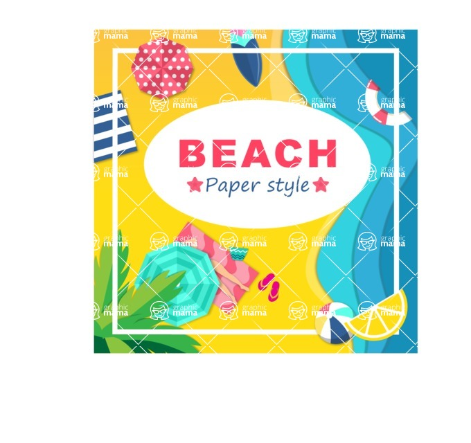Summer Vector Graphics - Mega Bundle - Beach Vector Poster