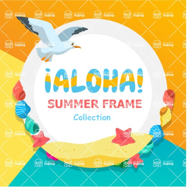 Summer Vector Graphics - Mega Bundle - Vector Aloha Summer Poster