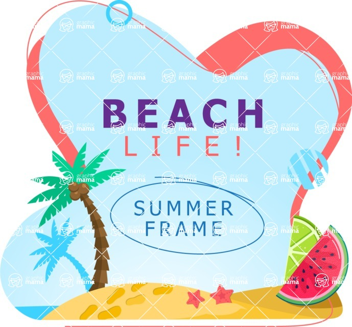 Summer Vector Graphics - Mega Bundle - Vector Summer Frame