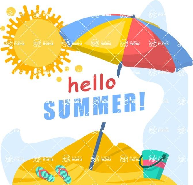 Summer Vector Graphics - Mega Bundle - Hot Summer Poster Template