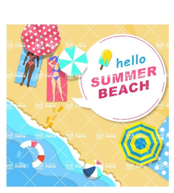 Summer Vector Graphics - Mega Bundle - Vector Beach Poster Template