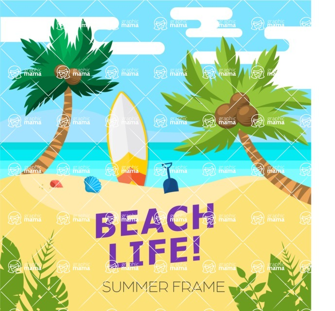 Summer Vector Graphics - Mega Bundle - Vector Sunny Day Poster Template