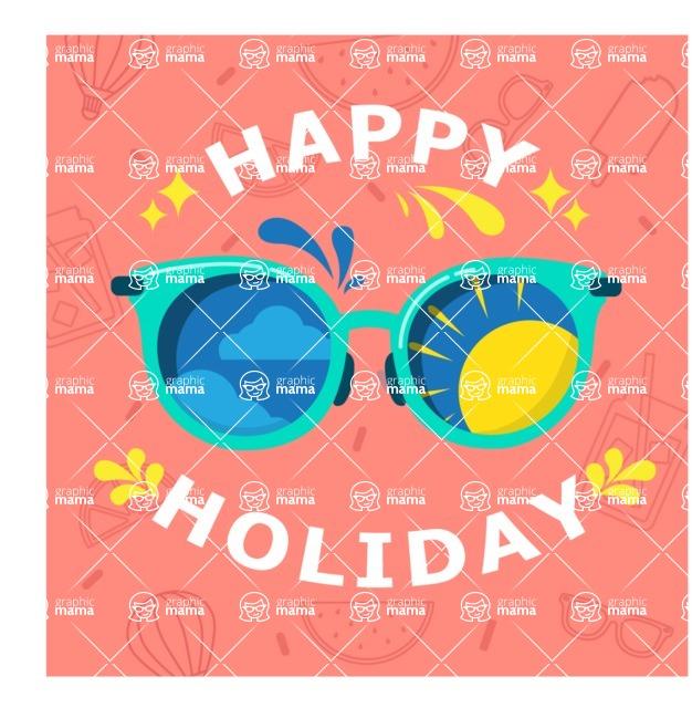 Summer Vector Graphics - Mega Bundle - Vector Happy Holiday Poster