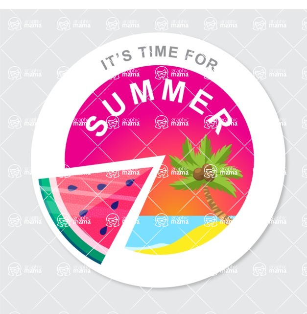 Summer Vector Graphics - Mega Bundle - Summer Vector Badge Template