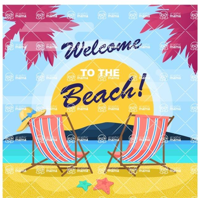 Summer Vector Graphics - Mega Bundle - Summer Chill Vector Poster Template