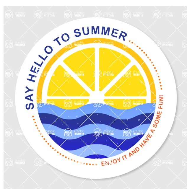 Summer Vector Graphics - Mega Bundle - Creative Summer Badge Template