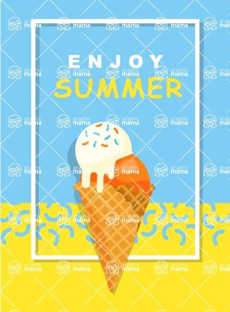 Summer Vector Graphics - Mega Bundle - Clean Summer Vector Poster Template