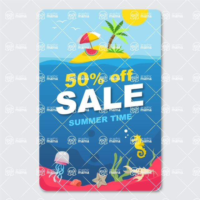Summer Vector Graphics - Mega Bundle - Hot Summer Sale Banner Design Template