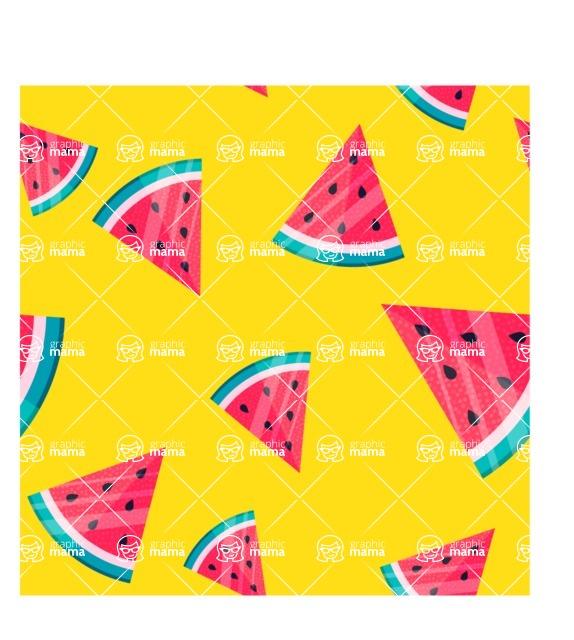 Summer Vector Graphics - Mega Bundle - Colorful Vector Watermelon Pattern