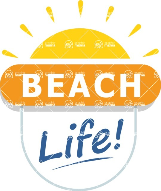 Summer Vector Graphics - Mega Bundle - Vector Beach Life Logo Design Template