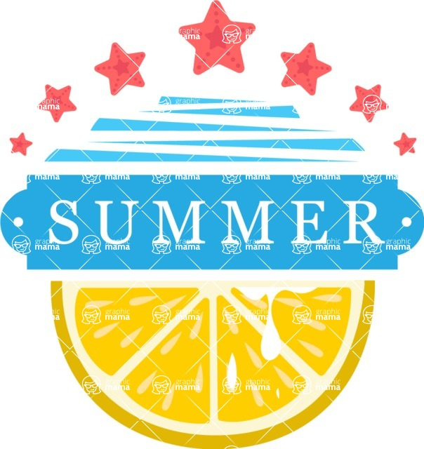Summer Vector Graphics - Mega Bundle - Colorful Summer Logo Design Template