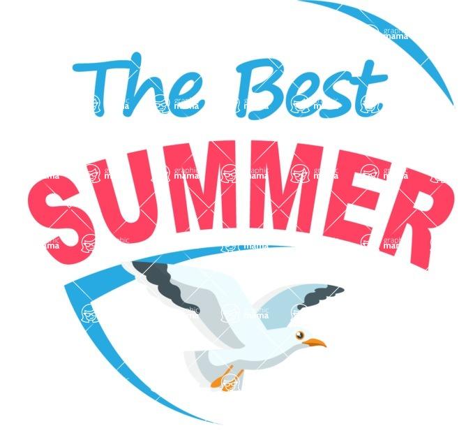 Summer Vector Graphics - Mega Bundle - The Best Summer Vector Logo Design Template