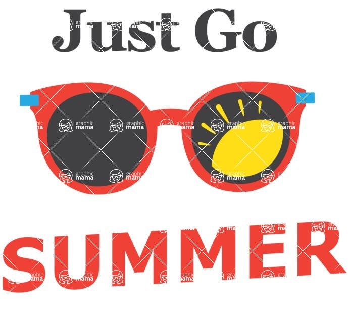 Summer Vector Graphics - Mega Bundle - Vector Summer Logo Design with Sunglasses