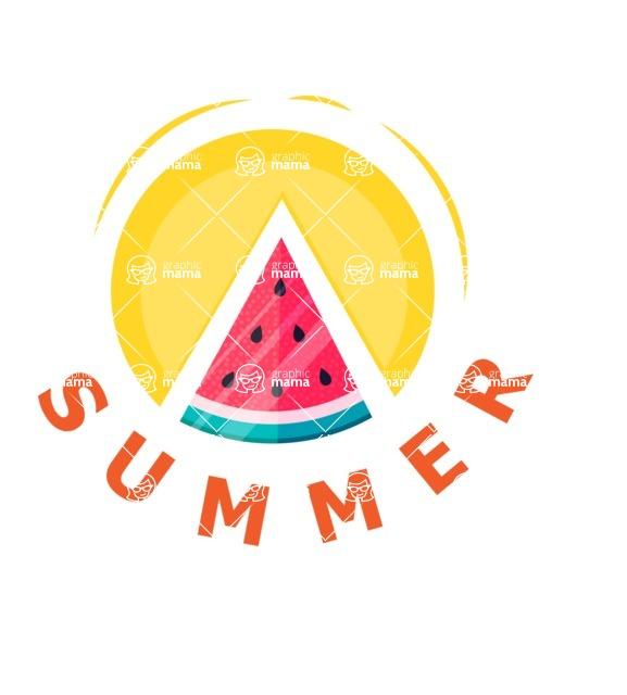 Summer Vector Graphics - Mega Bundle - Vector Summer Logo Design