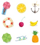 Summer Vector Graphics - Mega Bundle - Colorful Vector Summer Icons