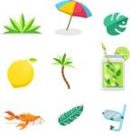 Summer Vector Graphics - Mega Bundle - Vector Summer Icons Set