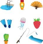 Summer Vector Graphics - Mega Bundle - Summer Vacation Vector Icons Set