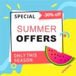 Summer Vector Graphics - Mega Bundle - Vector Special Summer Offer Design Template