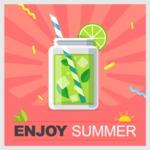 Summer Vector Graphics - Mega Bundle - Enjoy Summer Vector Poster