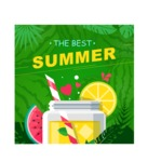 Summer Vector Graphics - Mega Bundle - Vector The Best Summer Poster Template