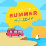 Summer Vector Graphics - Mega Bundle - Vector Summer Vacation Poster Template