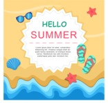 Summer Vector Graphics - Mega Bundle - Colorful Vector Summer Poster Template