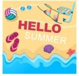 Summer Vector Graphics - Mega Bundle - Vector Hot Beach Poster Template