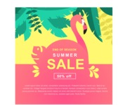 Summer Vector Graphics - Mega Bundle - Flat Summer Sale Poster