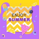 Summer Vector Graphics - Mega Bundle - Colorful Minimalistic Summer Poster Template