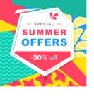 Summer Vector Graphics - Mega Bundle - Flat Summer Poster Vector Template