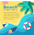 Summer Vector Graphics - Mega Bundle - Hot Summer Beach Vector Flyer Template