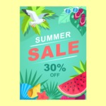 Summer Vector Graphics - Mega Bundle - Summer Sale Vector Poster Template