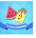 Summer Vector Graphics - Mega Bundle - I Love Summer Vector Poster