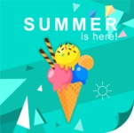 Summer Vector Graphics - Mega Bundle - Summer Vector Poster with Ice Cream