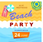 Summer Vector Graphics - Mega Bundle - Modern Summer Party Poster Template