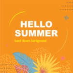 Summer Vector Graphics - Mega Bundle - Vector Warm Summer Poster Template