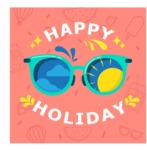 Summer Vector Graphics - Mega Bundle - Vector Happy Holiday Poster